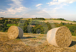 Hay Bails At Wellow Stock Photos