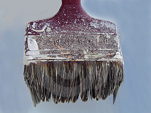 Close Up Of An Old Paintbrush Free Stock Image