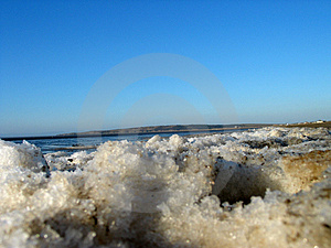 Icy beach Royalty Free Stock Image