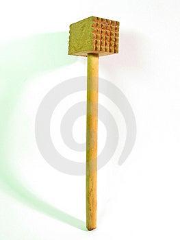 Martelo de madeira da carne Fotografia de Stock