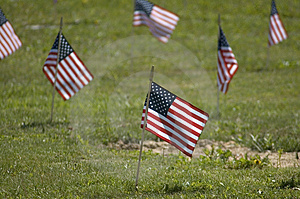 Memorial Flag Close up Stock Image
