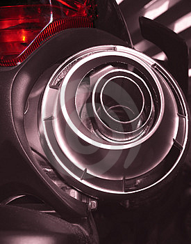 Motorcycle Rear - Exhaust System Stock Images