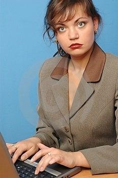 Beautiful Woman Working Stock Photos