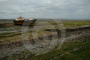 Shipwreack en la isla de Walney Fotos de archivo libres de regalías