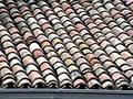 Bent tiles Stock Image