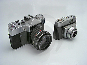 Old School Cameras Stock Image - Image: 1301361