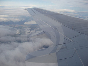 Plane Wing Royalty Free Stock Image - Image: 1302286