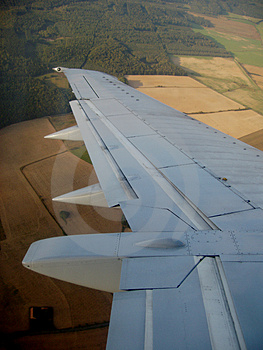 Plane Wing Royalty Free Stock Photography - Image: 1302417