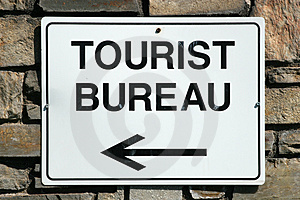 Tourist Bureau Sign Royalty Free Stock Photography - Image: 1303917