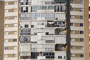 Residential Tower Block Stock Photo - Image: 1305780