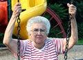 Swinging Grandmother 8 Royalty Free Stock Image