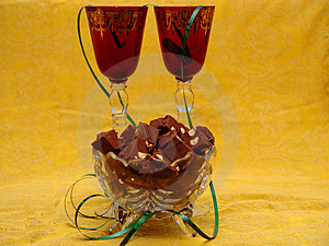 Glasses And Fudge Royalty Free Stock Photos - Image: 1311698