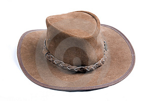 Brown cowboys hat