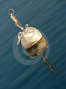 White Buoy Stock Image - Image: 1314931