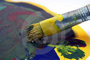 Artist Pallet Royalty Free Stock Photos - Image: 1317778