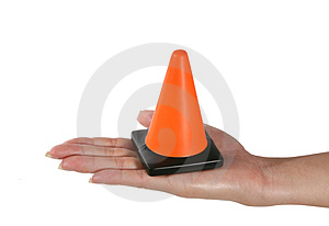 Construction Cone Stock Photography