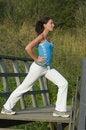 Woman exercising Royalty Free Stock Photos