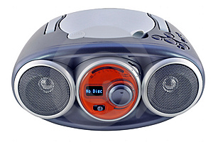 Isolated Blue Radio Device Stock Image - Image: 13169301