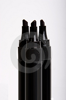 Black Marker Pens Royalty Free Stock Photography - Image: 1322637