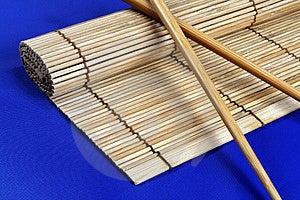 Chopsticks And Bamboo Mat Stock Image - Image: 1326101
