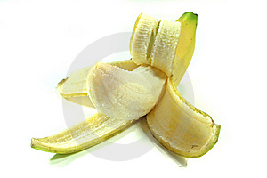 Peeled banana Royalty Free Stock Image
