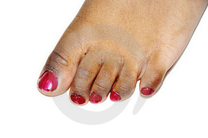 Foot Nail Polish Royalty Free Stock Photo - Image: 13265285