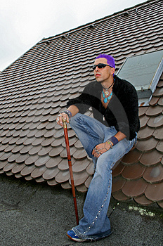 Full Punk On Roof Stock Images - Image: 1331494