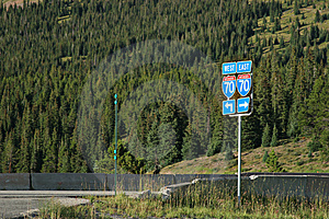 Route 70 Road Sign Stock Images - Image: 1334654