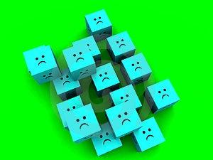 Sad Cubes  11 Stock Photo - Image: 1335660