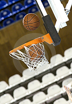 Ball In Hoop Royalty Free Stock Photo - Image: 13325345