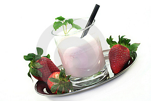 Strawberry Shake Stock Photos - Image: 13345553