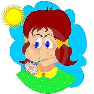 Daisy Girl Royalty Free Stock Photo - Image: 13382645