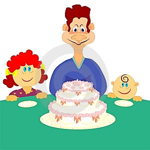 Family Cake Royalty Free Stock Images - Image: 13382709