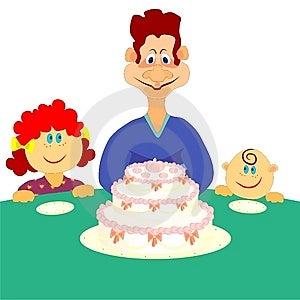 Family Cake Royalty Free Stock Images - Image: 13382709