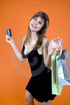 Shopping craze Royalty Free Stock Photography