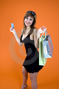 Shopping craze Stock Photo