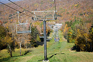 Chair-lift Up Mountain Royalty Free Stock Photos - Image: 1344618