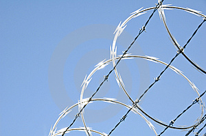 Razor Wire 3 Free Stock Photography