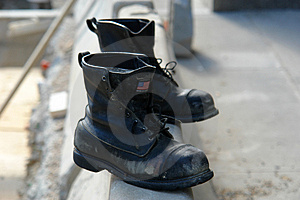 Old Boots Made In The USA Royalty Free Stock Photography - Image: 1349887