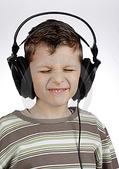 Kid With Headset Stock Photography - Image: 13462962