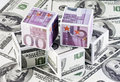 Cubes of money Royalty Free Stock Photos