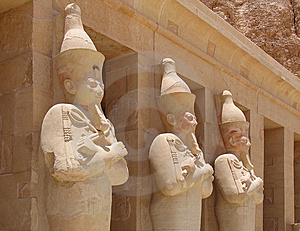 Ancient Statues At Hatschepsut Temple Royalty Free Stock Photography - Image: 13480847