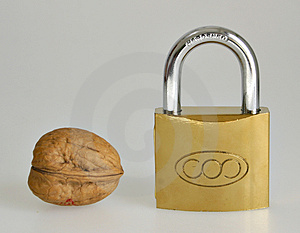 Closed Padlock Stock Image - Image: 1351951