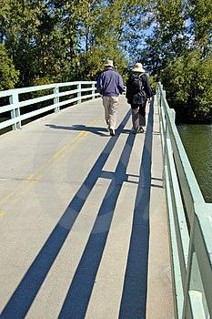 Couple Walking Stock Image - Image: 1352571