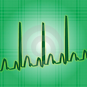Heartbeat green Stock Photo