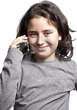 Teen With The Phone Royalty Free Stock Image - Image: 13519446