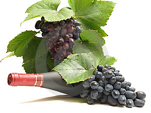 Grapes wine Stock Photo