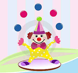Funny circus clown