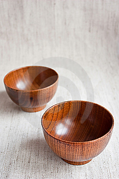 Wooden Bowls Royalty Free Stock Images - Image: 13549469