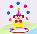 Funny circus clown Stock Image